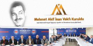 Mehmet Akif İnan Vakfı Çalışmalarına Başladı