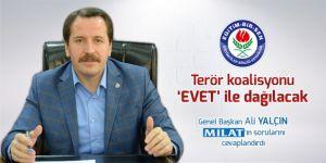 Ali Yalçın: Terör koalisyonu 'evet' ile dağılacak