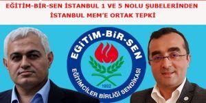 """Eğitim-Bir-Sen'den İstanbul İl Müdürüne """"Görevden Alma"""" Tepkisi"""