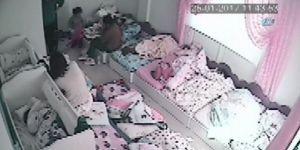 2,5 yaşındaki kızın kreşte darp edilme anı kamerada
