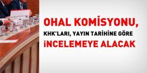 OHAL Komisyonu, KHK'ları, yayınlanma tarihine göre incelemeye alacak