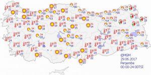 Yurtta hava durumu - Bugün hava nasıl olacak?