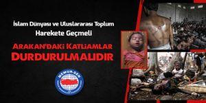 Memur-Sen'den Arakan Çağrısı: Harekete Geçin, Katliamı Durdurun!