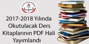 2017-2018 Yılında Okutulacak Ders Kitapları PDF