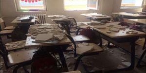 Tavandaki alçılar öğrencilerin üzerine düştü: 3 yaralı