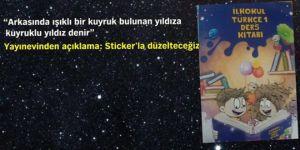 İlkokul Türkçe 1 ders kitabında yanlışlar