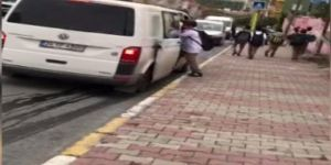 10 kişilik minibüste 21 öğrenci taşıyan servis şoförü bu kadarına pes dedirtti.
