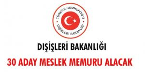 Dışişleri Bakanlığı 30 aday meslek memuru alacak