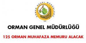 125 Orman Muhafaza Memuru alınacak
