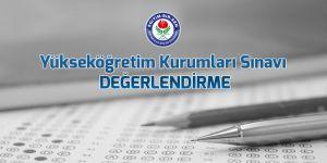 Yükseköğretim Kurumları Sınavı değerlendirmesi