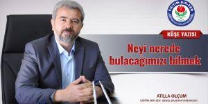 Atilla Olçum'dan MEB'e Eleştiri: Eğitim'i yazboz tahtasına...