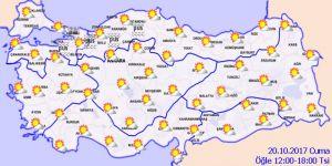 Hava durumu 20 Ekim 2017 Cuma Hava nasıl olacak?
