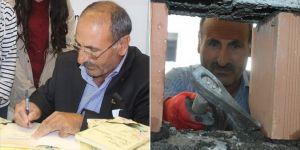 Van'da duvar ustası Öztopçu: İnşaatta işçi fuarda yazar