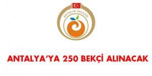 Antalya İlçe Kaymakamlıkları Bekçi Alım İlanı