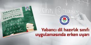 MEB'e Yabancı dil hazırlık sınıfı uyarısı