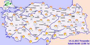 Meteoroloji'den 2 ile yağmur uyarısı!14 Aralık Perşembe