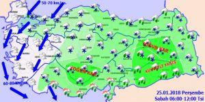 Meteoroloji'den yoğun kar yağışı uyarısı! 25 Ocak Perşembe yurtta hava durumu