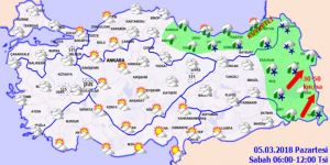 Meteoroloji'den kuvvetli yağış uyarısı! 5 Mart Pazartesi yurtta hava durumu