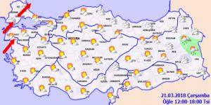 Bugün hava nasıl olacak?21 Mart Çarşamba yurtta hava durumu