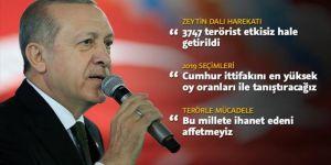 Erdoğan: Cumhur ittifakını en yüksek oy oranları ile tanıştıracağız