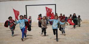 Afrin terörden arındırıldı çocuklar okulla buluştu