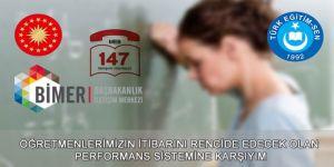 Türk Eğitim-Sen'den Performans Sistemine Karşı Atak