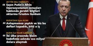 Erdoğan: S400 konusunda anlaşmamızı yaptık ve bu defteri kapadık