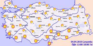 Bugün hava nasıl olacak?4 Nisan Çarşamba yurtta hava durumu