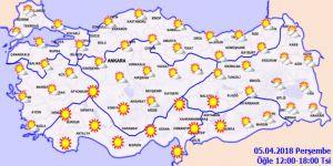 Bugün hava nasıl olacak? 5 Nisan Perşembe yurtta hava durumu
