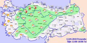Bugün hava nasıl olacak? Meteoroloji uyardı! 12 Nisan Perşembe yurtta hava durumu