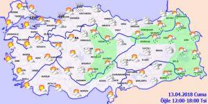 Bugün hava nasıl olacak? Meteoroloji'den çok kritik uyarı!13 Nisan Cuma yurtta hava durumu