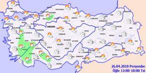 26 Nisan Perşembe yurtta hava nasıl olacak?