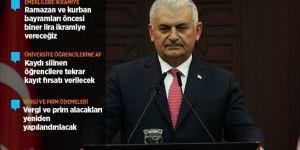 Başbakan Yıldırım'dan vatandaşlara müjde