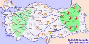Bugün hava nasıl olacak?16 Mayıs hava durumu