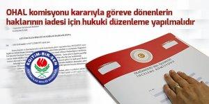 Eğitim-Bir-Sen'den OHAL Komisyonu Çıkışı