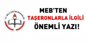 MEB'ten önemli taşeron yazısı!
