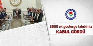 Eğitim-Bir-Sen: 3600 ek gösterge talebimiz kabul gördü