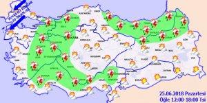 Bu illerde yaşayanlar dikkat! Sağanak yağış geliyor... 25 Haziran hava durumu