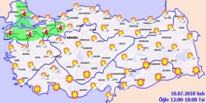 Bugün hava nasıl olacak? 10 temmuz hava durumu... İstanbul'da yağmur var mı?