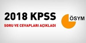 2018 KPSS GY GK ve EB soru ve cevapları açıklandı