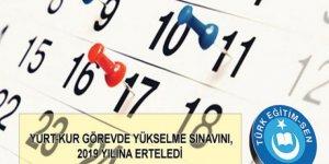 Yurt-Kur Görevde Yükselme Sınavını, 2019 Yılına Erteledi