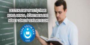 Yetiştirme Kurslarında, Öğretmenlere Nöbet Görevi Verilmeyecek