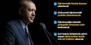 Erdoğan'dan öğretmenlere müjdeler