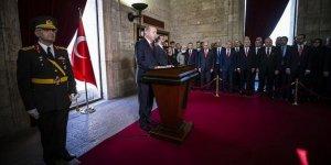 Erdoğan: Türkiye'nin 95 yılda elde ettiği başarıların bir sembolüdür
