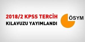 2018/2 KPSS tercih kılavuzu yayımlandı