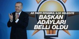 İşte AK Parti'nin İstanbul Belediye Başkan adayları