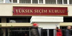YSK, seçime katılabilecek partileri ilan etti