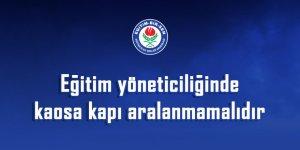 Eğitim-Bir-Sen'den Yönetici Atama Tepkisi: Kaosa Kapı Aralanmamalıdır