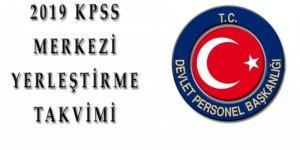 2019 Yılı KPSS Yerleştirme Takvimi