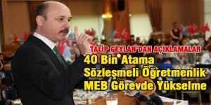 Geylan'dan 40 Bin Atama, Sözleşmeli Öğretmenlik ve MEB Görevde Yükselme Mesajı